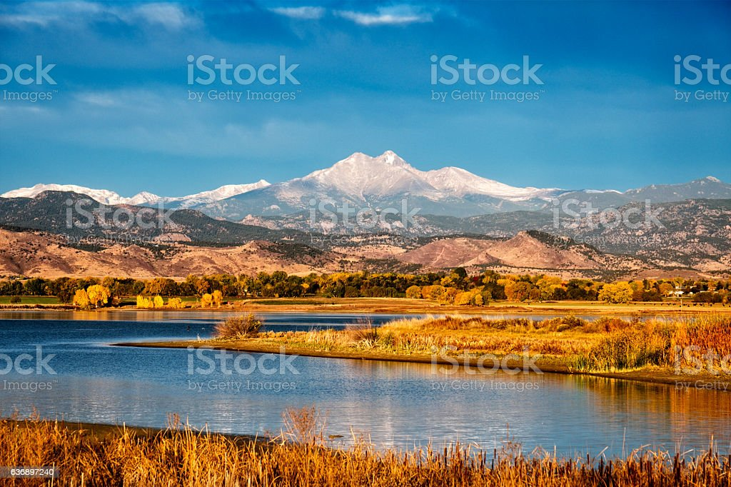 Fall in Colorado Front Range stock photo