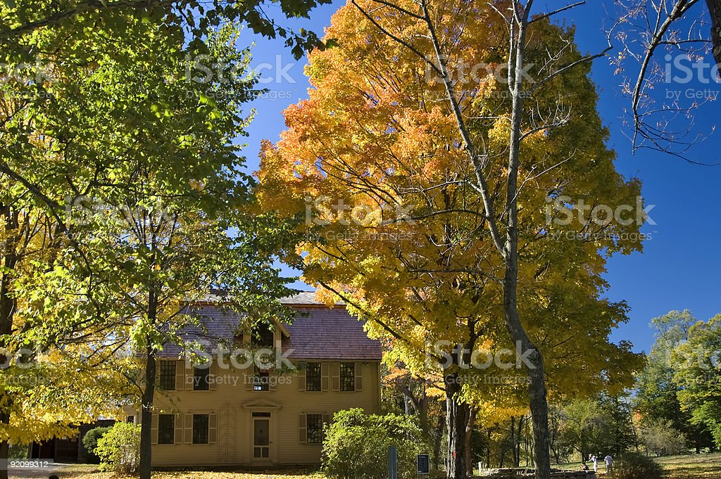 Fall in Concord, MA stock photo