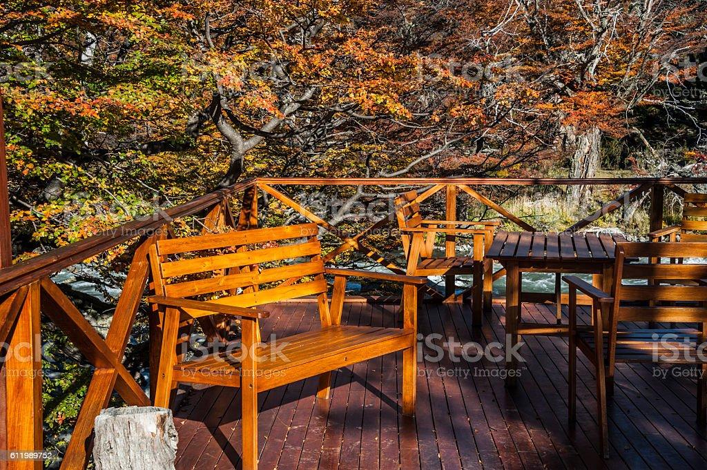 Fall in Perito Moreno National Park, Patagonia stock photo