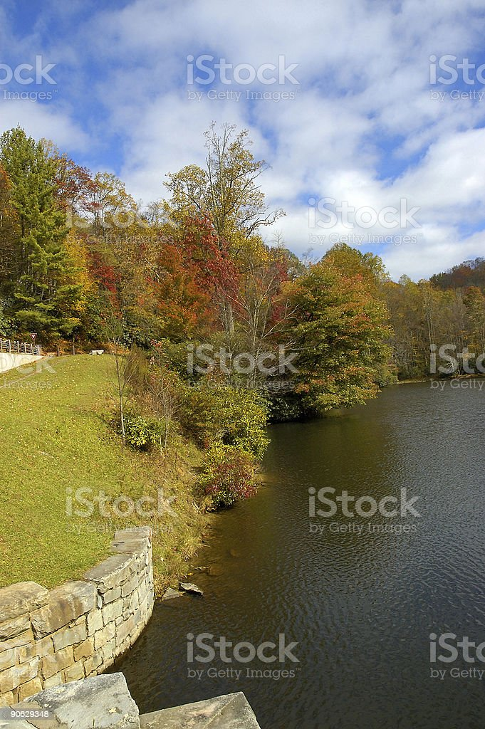 fall in the Blue Ridge Mountains royalty-free stock photo