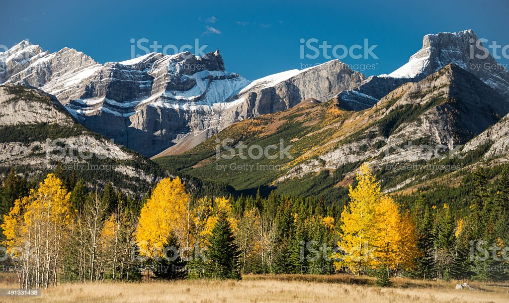 Fall in the Rockies stock photo