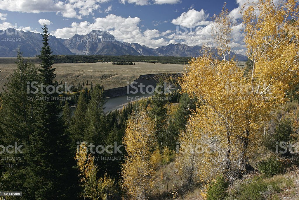 Fall in the Tetons royalty-free stock photo