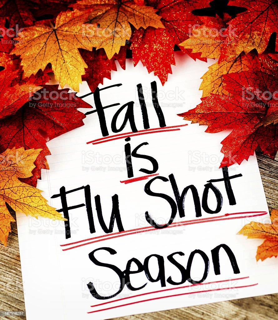 Fall is Flu Shot Season royalty-free stock photo