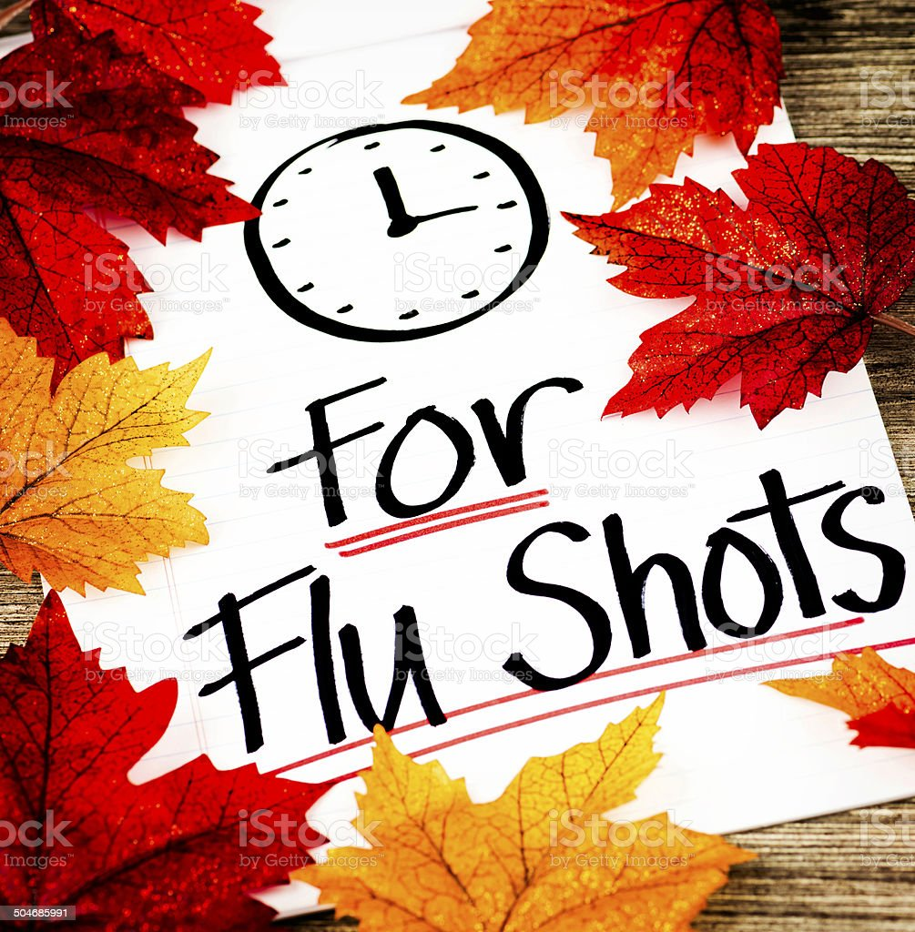 Fall is Time for Flu Shots stock photo