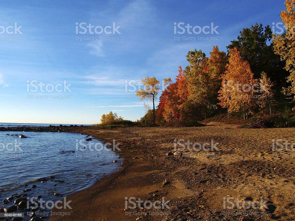 Fall Lakeshore stock photo