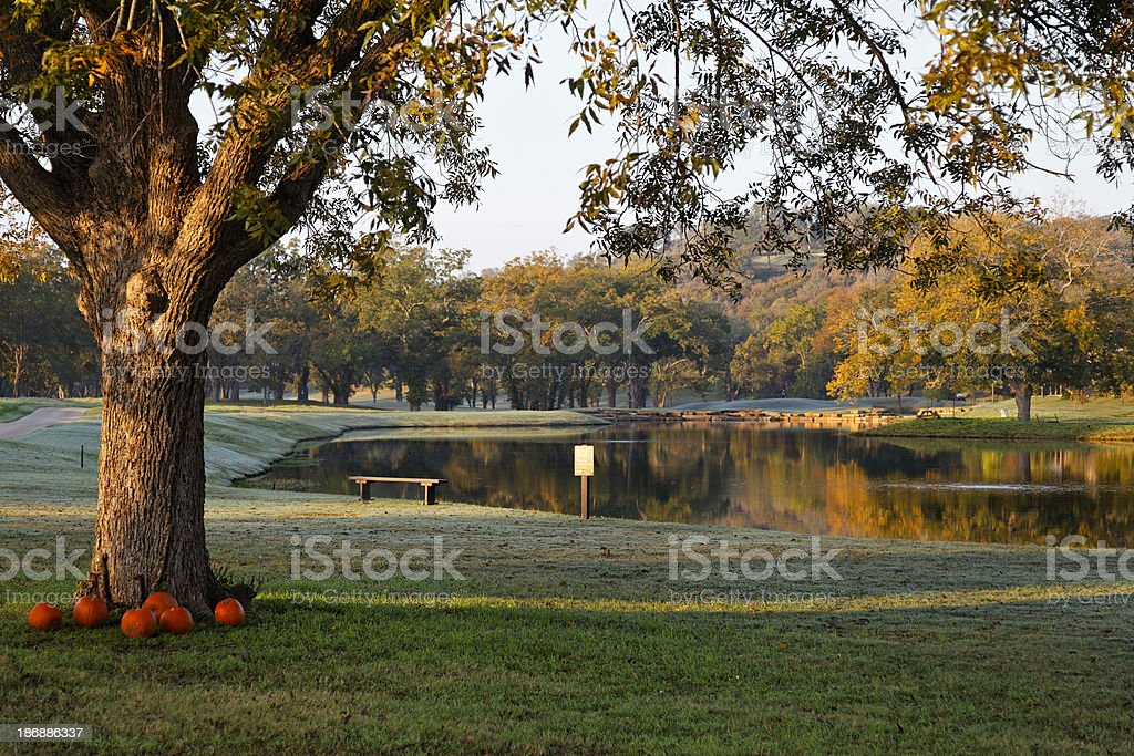 Fall Landscape in Austin Texas stock photo