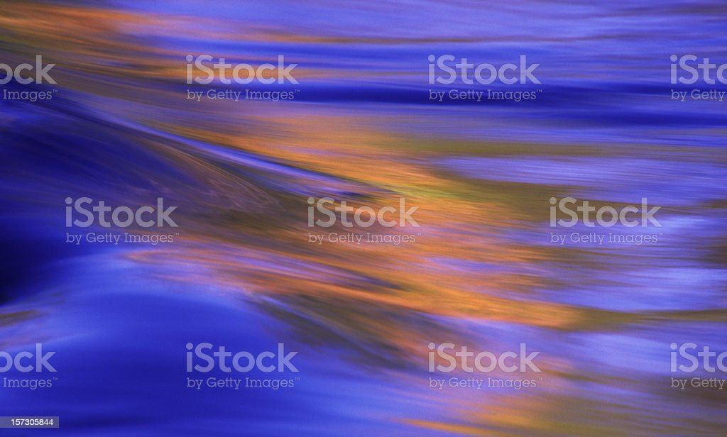 Fall Leaves Reflecting in Water royalty-free stock photo