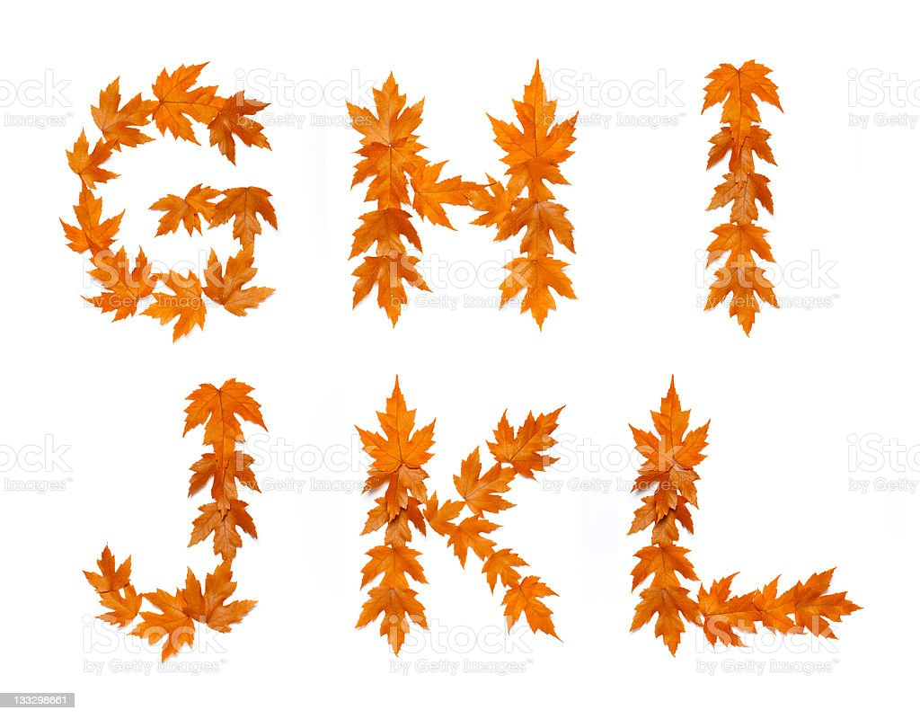 Fall Letters royalty-free stock photo
