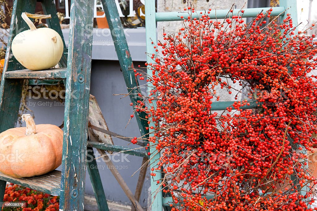 Fall nature provided decoration stock photo