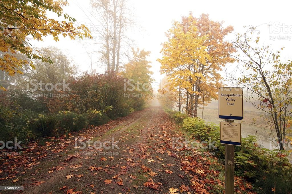 Fall On The Snoqualmie Valley Trail royalty-free stock photo