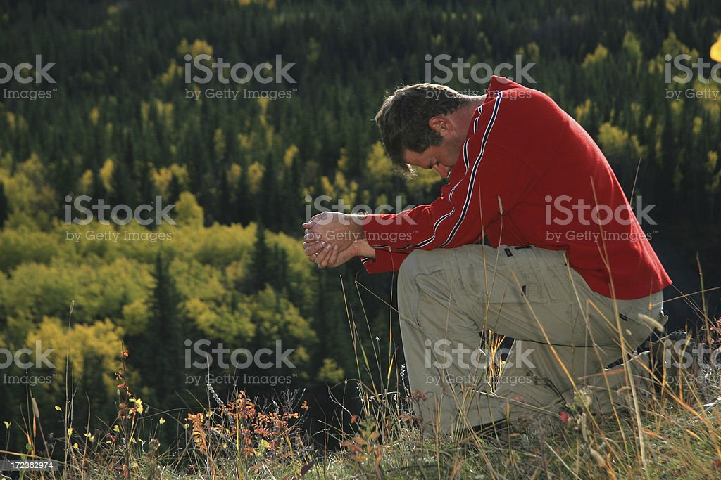 Fall Prayer royalty-free stock photo