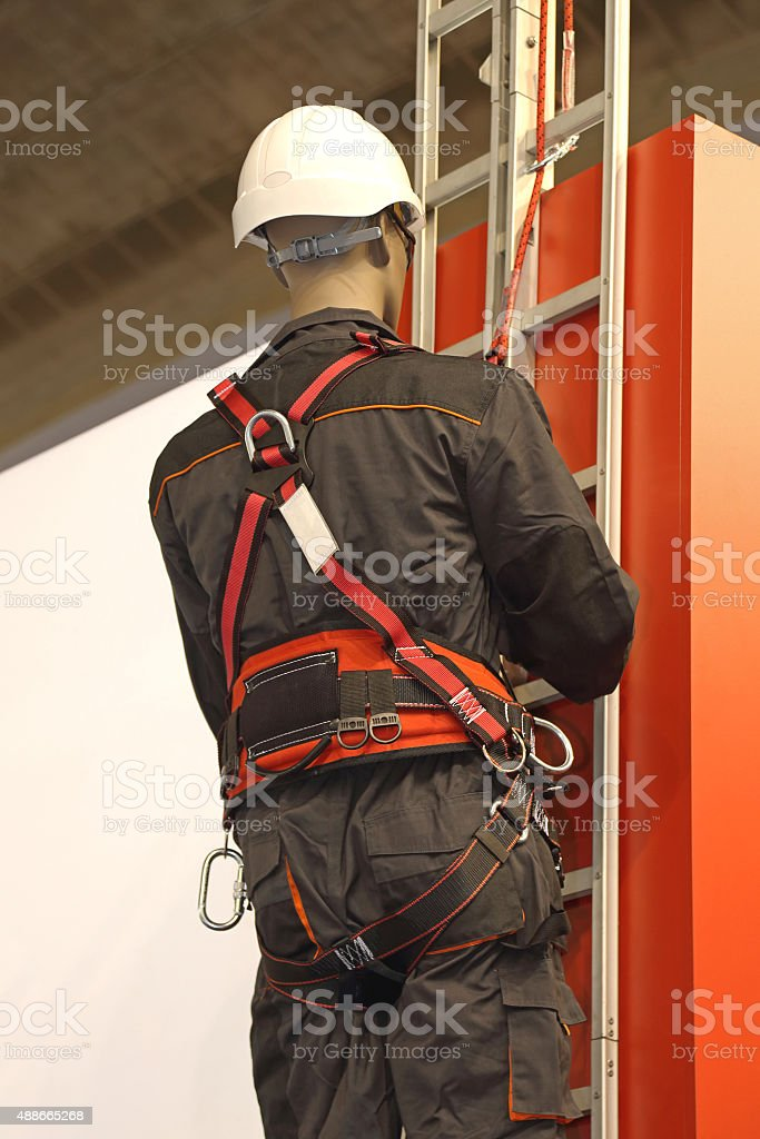 Fall Protection Safety Harness stock photo