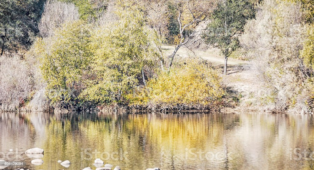 Fall Reflection stock photo