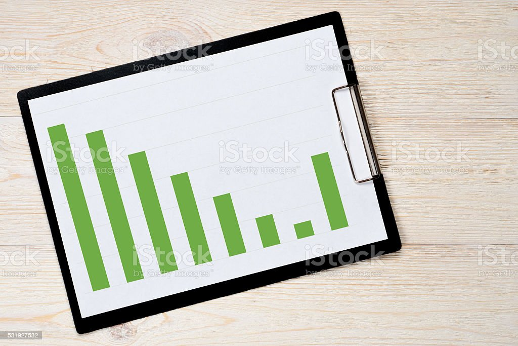 fall rise trend bar chart stock photo