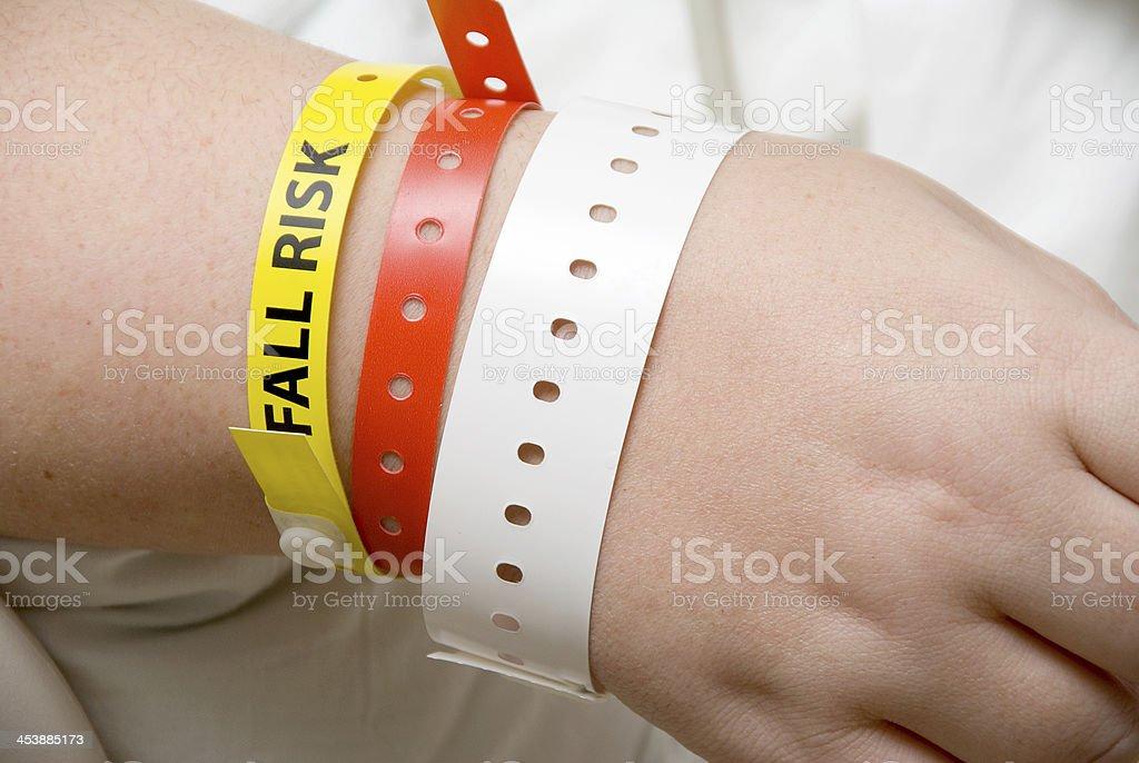 Fall Risk Bracelet stock photo