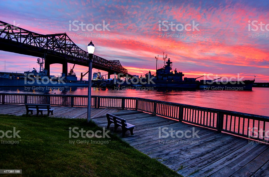 Fall River Heritage State Park stock photo