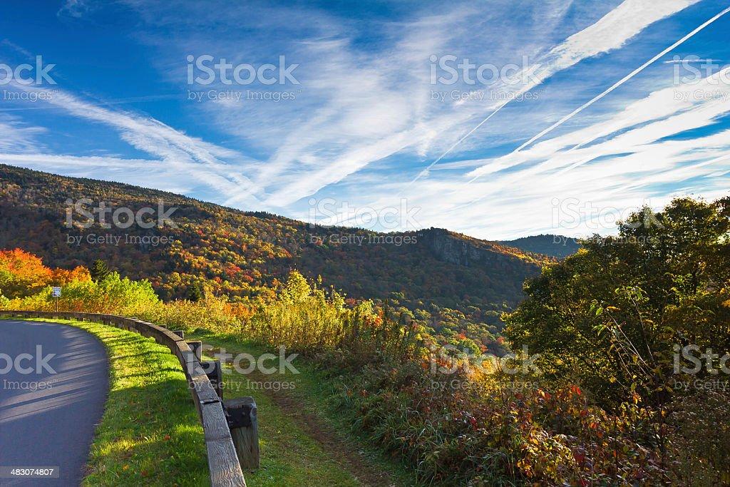 Fall Roadway stock photo