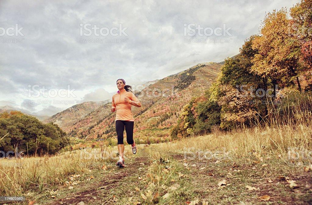 Fall Runner stock photo