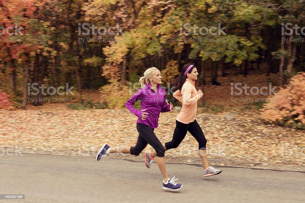 Fall Runners stock photo