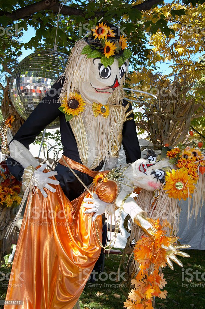 Fall Scarecrowss royalty-free stock photo