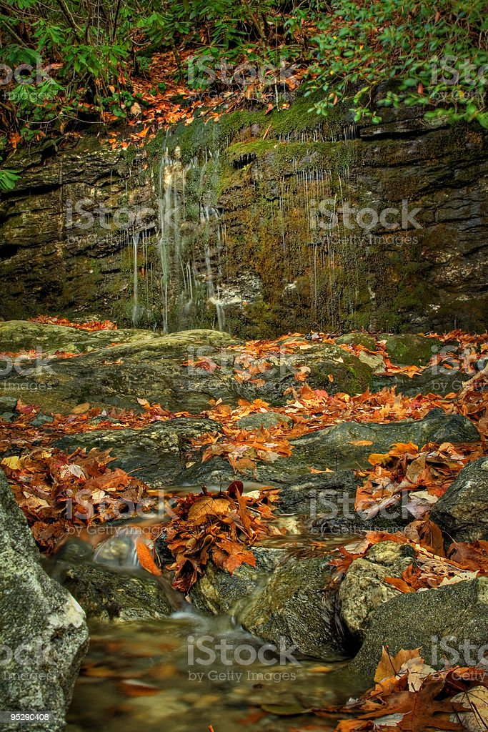Fall scene in Highlands, NC royalty-free stock photo