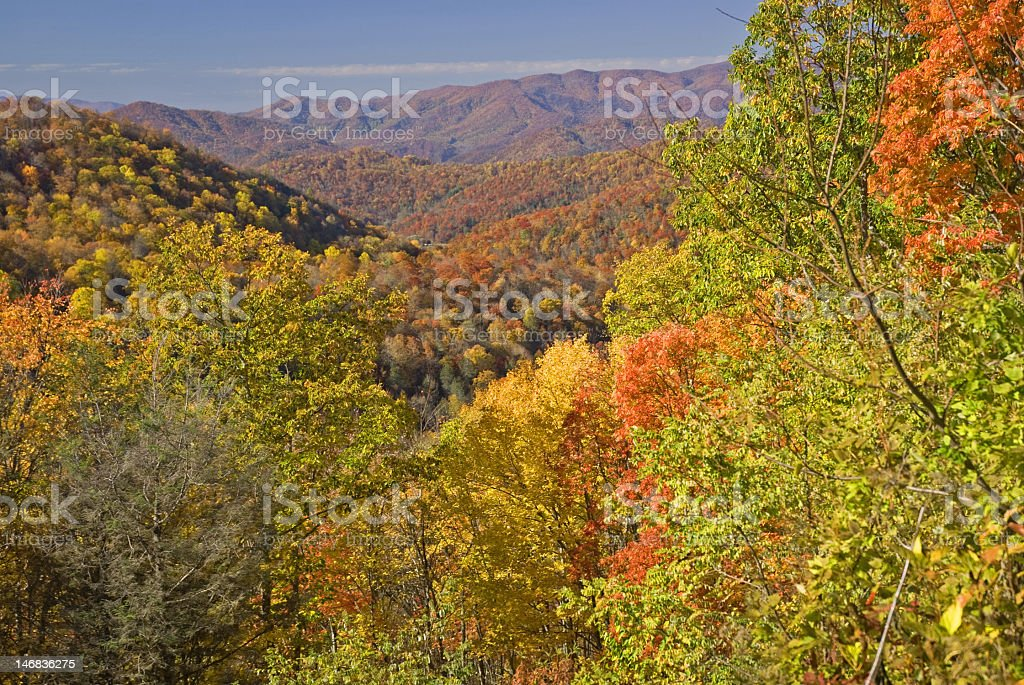 Fall Scene in the Blue Ridge royalty-free stock photo