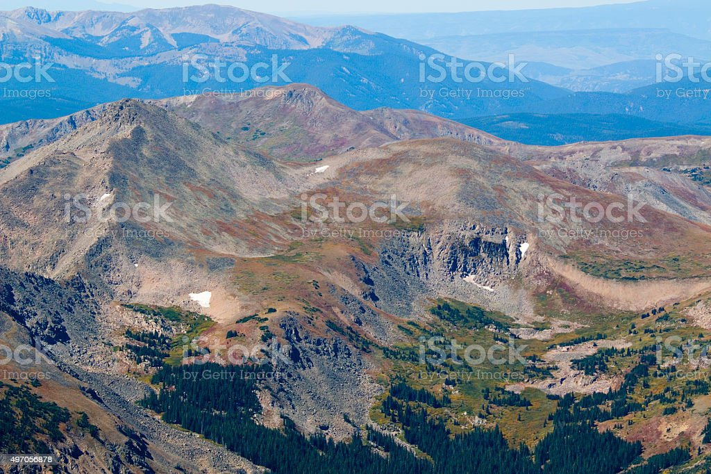 Fall Scenery on Mount Yale Colorado stock photo