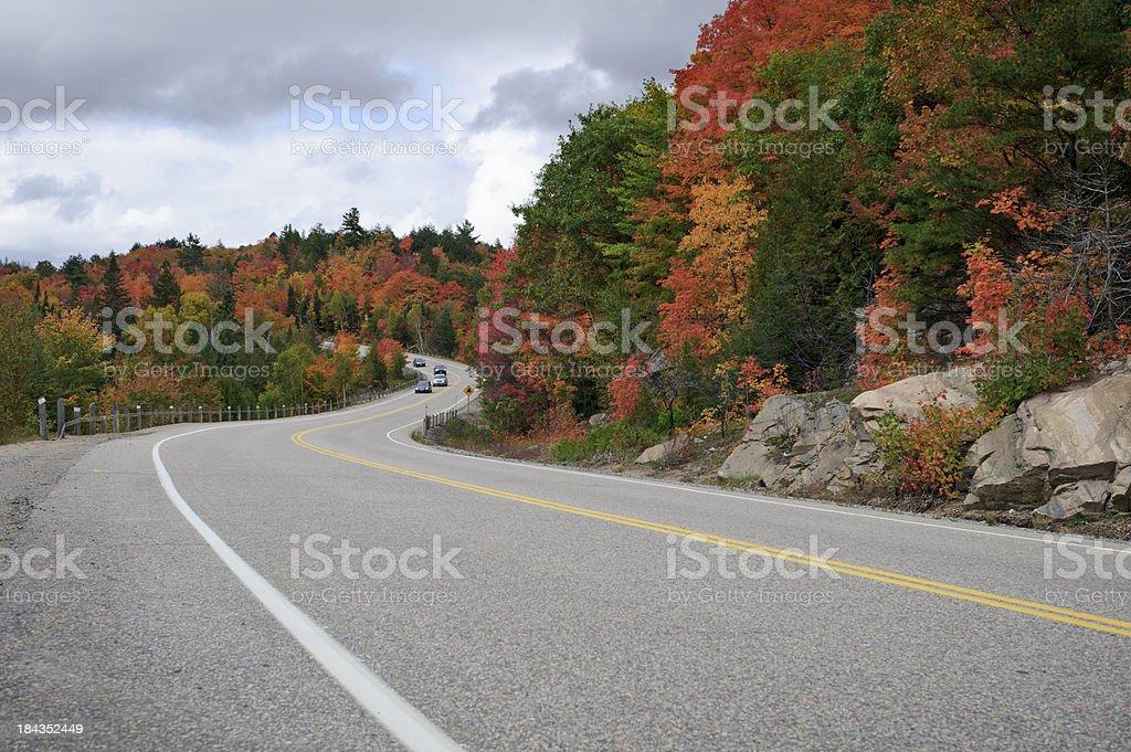 Fall Scenic Drive royalty-free stock photo