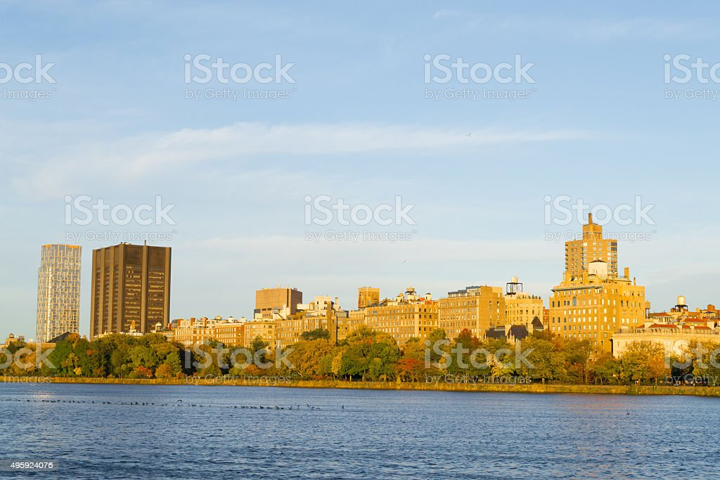 Fall season colors in Central park stock photo