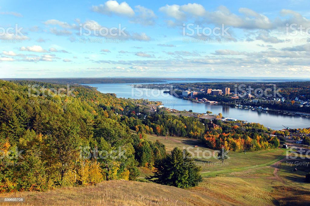Fall Season from Quincy Hill stock photo
