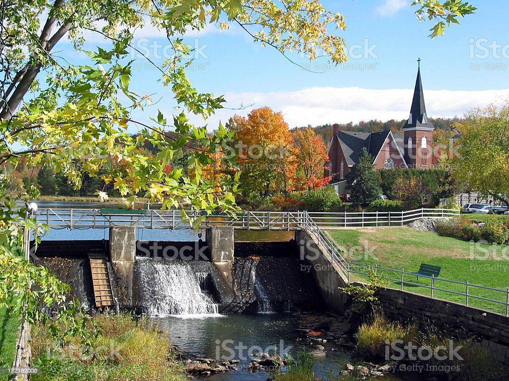 Fall season near a fall... royalty-free stock photo