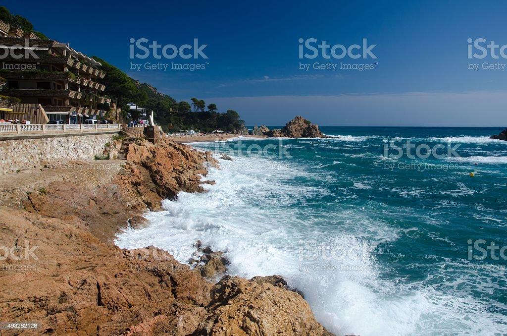 Fall season on the Costa Brava stock photo