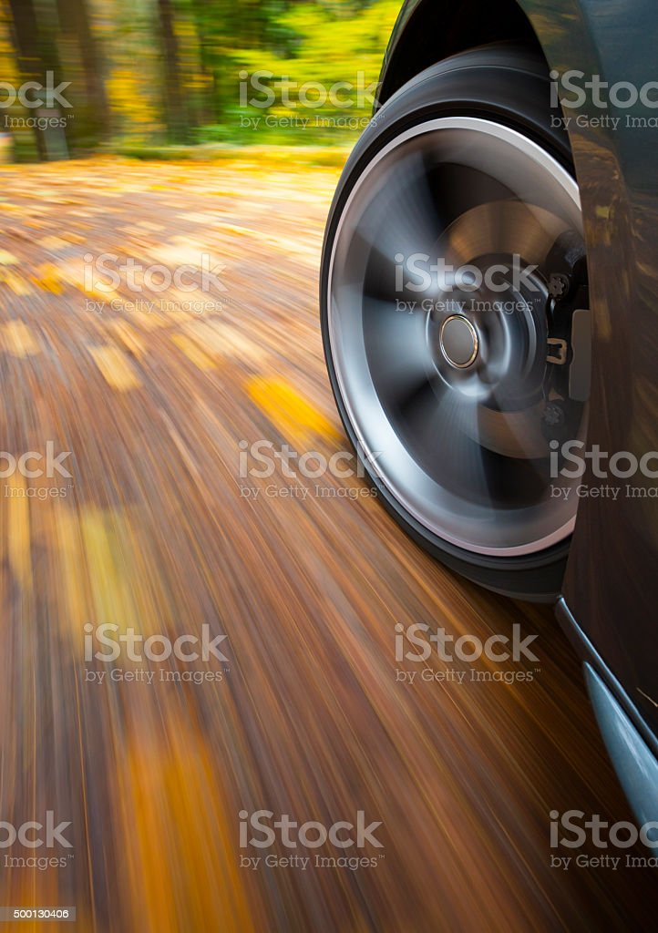 Fall Speed Drive. stock photo