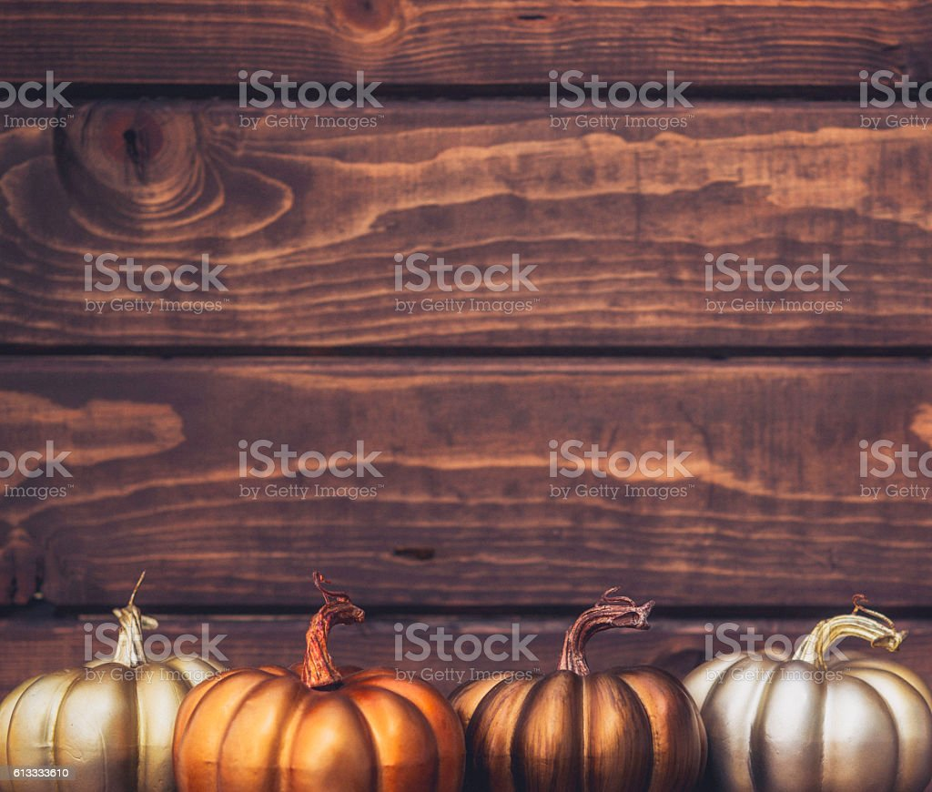 Fall still life luxe background for Thanksgiving or Halloween stock photo