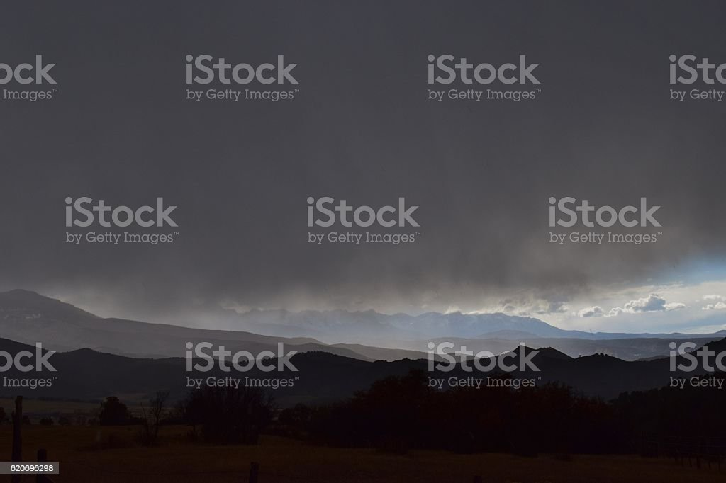Fall Storm over the Sneffels Range stock photo