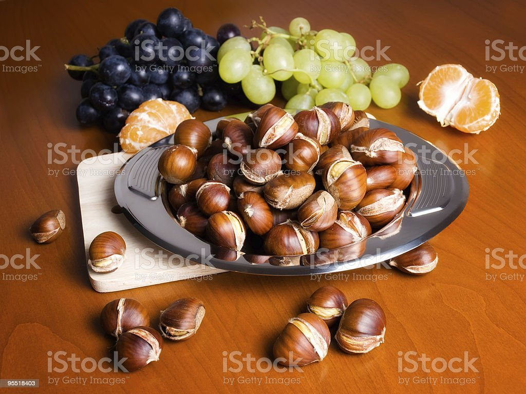 Fall table royalty-free stock photo