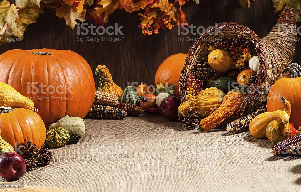 Fall Table Setting 1 stock photo
