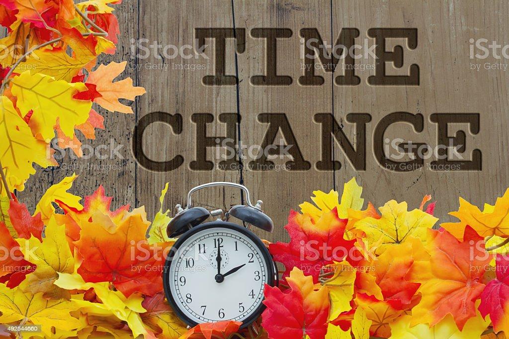 Fall Time Change stock photo