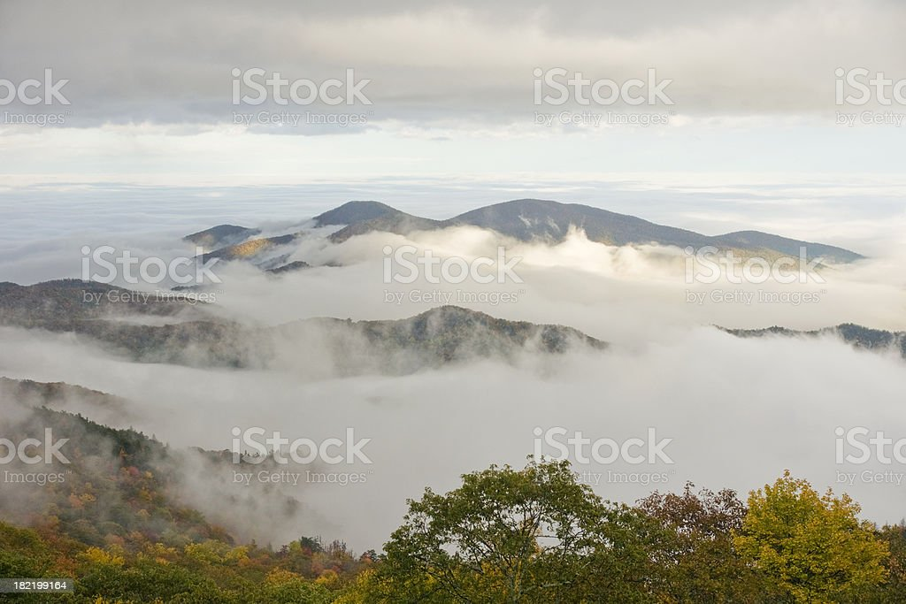 Fall Valley View royalty-free stock photo