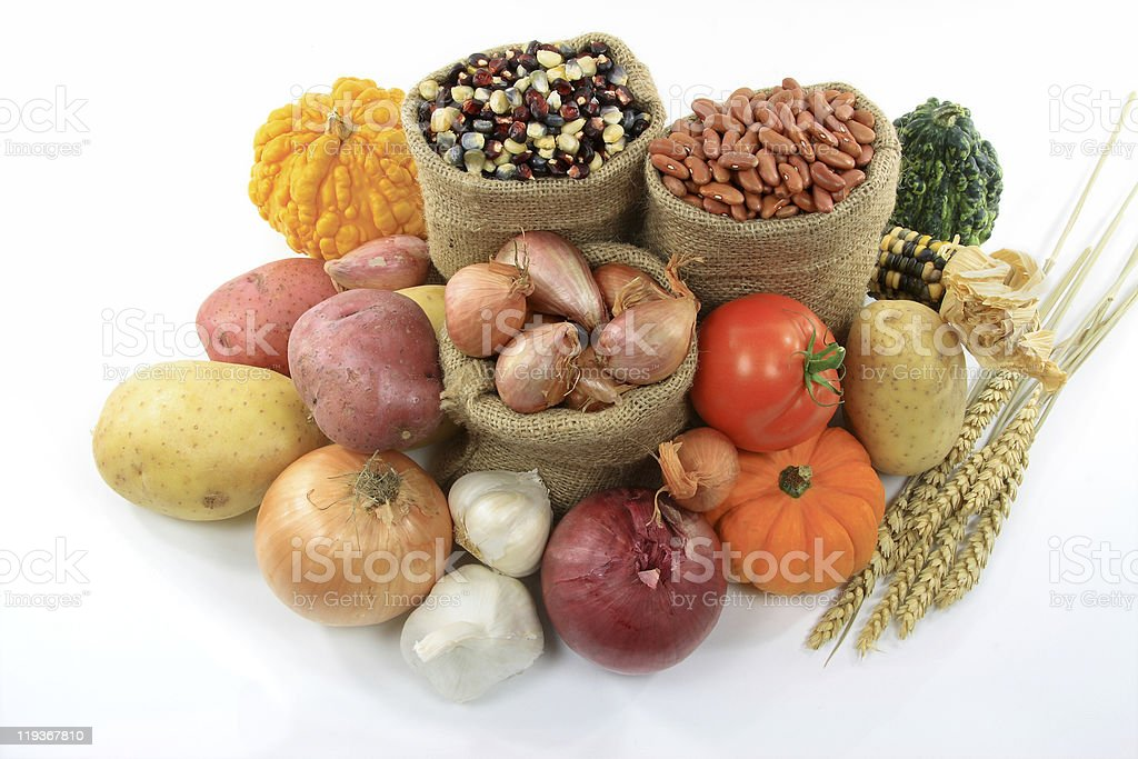 Fall Vegetables and squashes. royalty-free stock photo