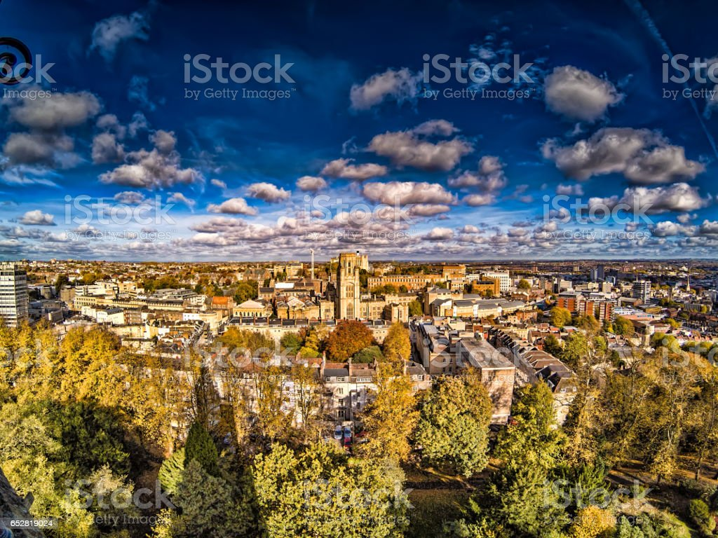 Fall View of Bristol England stock photo