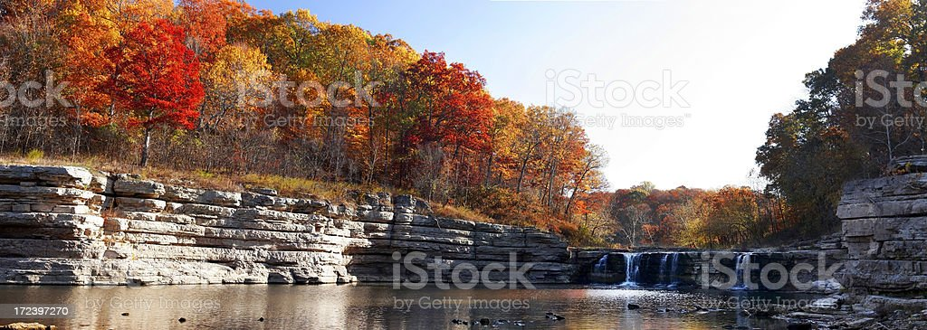 Fall waterfall royalty-free stock photo