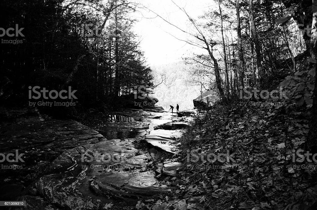 Fall Waterfall stock photo