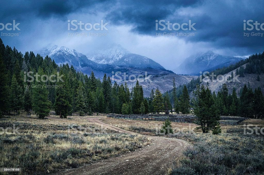 Fall Weather - Boulder Mountains, Idaho stock photo
