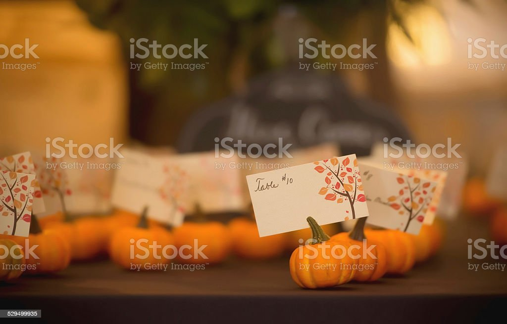 Fall Wedding Decor stock photo