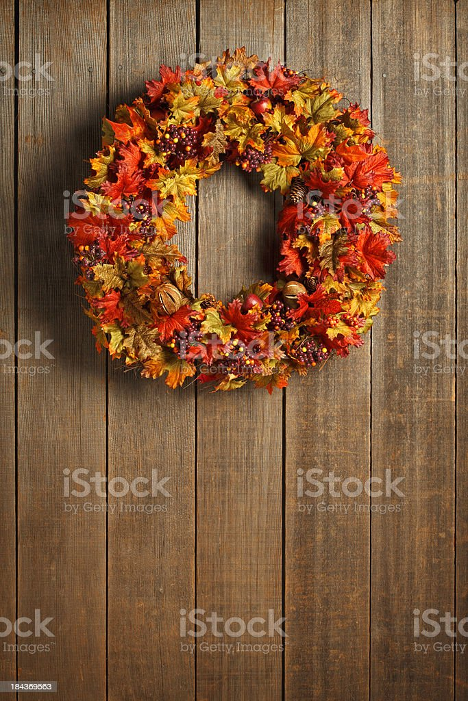 Fall Wreath royalty-free stock photo