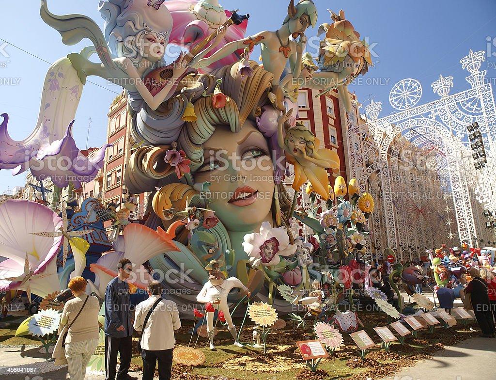 Falla Cuba-Literato Azorin - 2012 stock photo