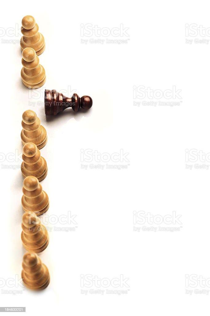 Fallen chess piece royalty-free stock photo
