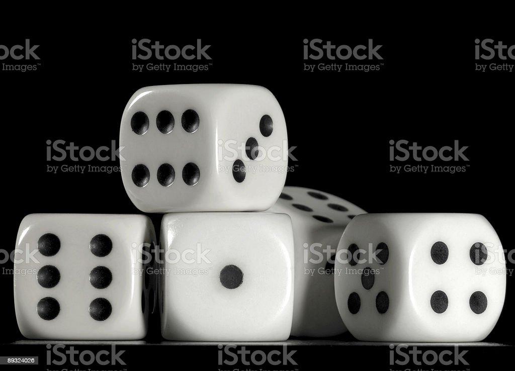fallen dice stock photo