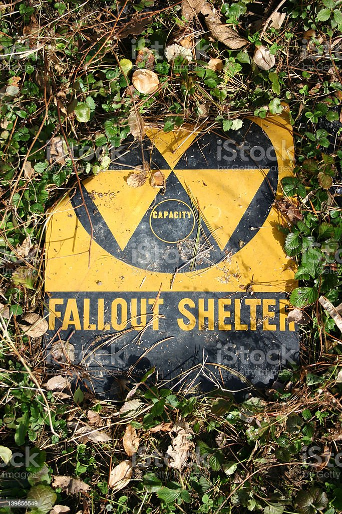 Fallen Fallout Shelter 1 royalty-free stock photo